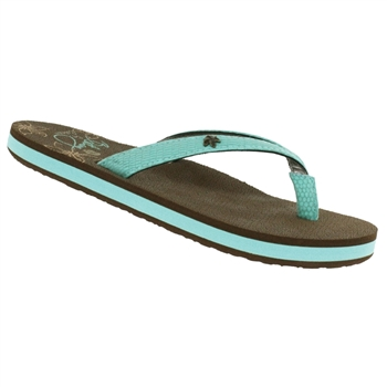 Cobian® Bethany - Lil Hanalei™ - Turquoise Girl's Sandal